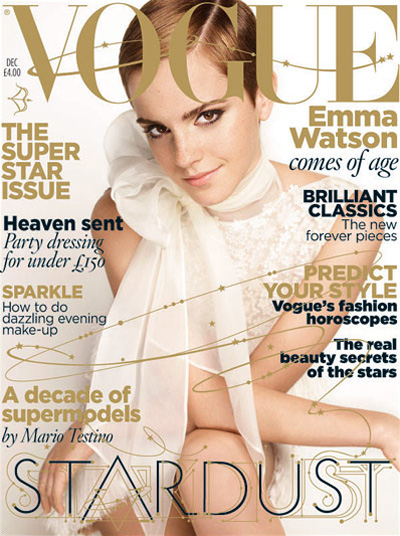 Emma Watson for VOGUE UK December 2010