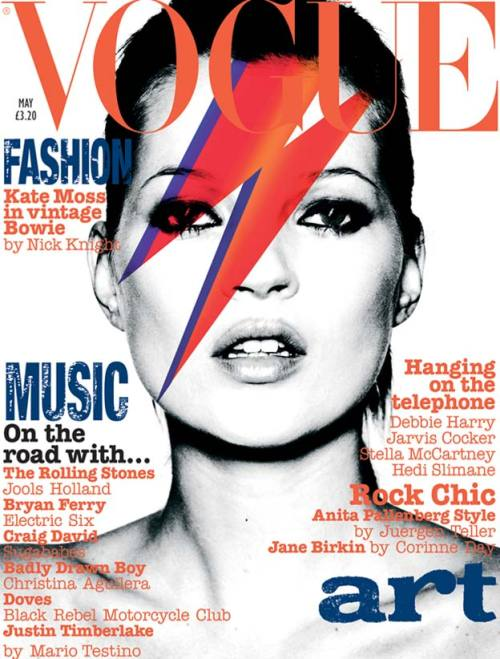 Vogue UK Kate Moss like David Bowie