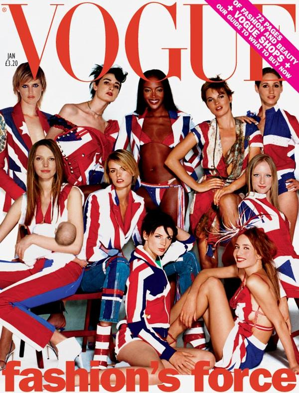 Vogue UK cover januari  model issue