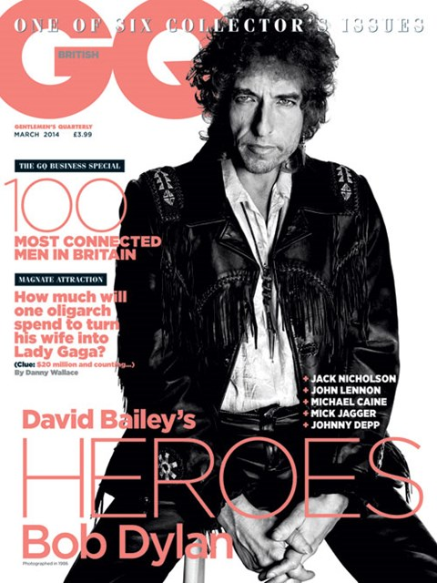 GQ UK march 2014 Bob Dylan