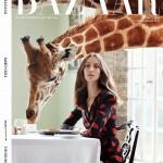 Harper's Bazaar UK – maart 2014 – giraffe cover
