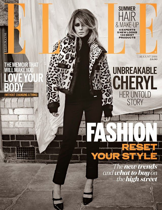 ELLE UK august 2014 Cheryl Cole