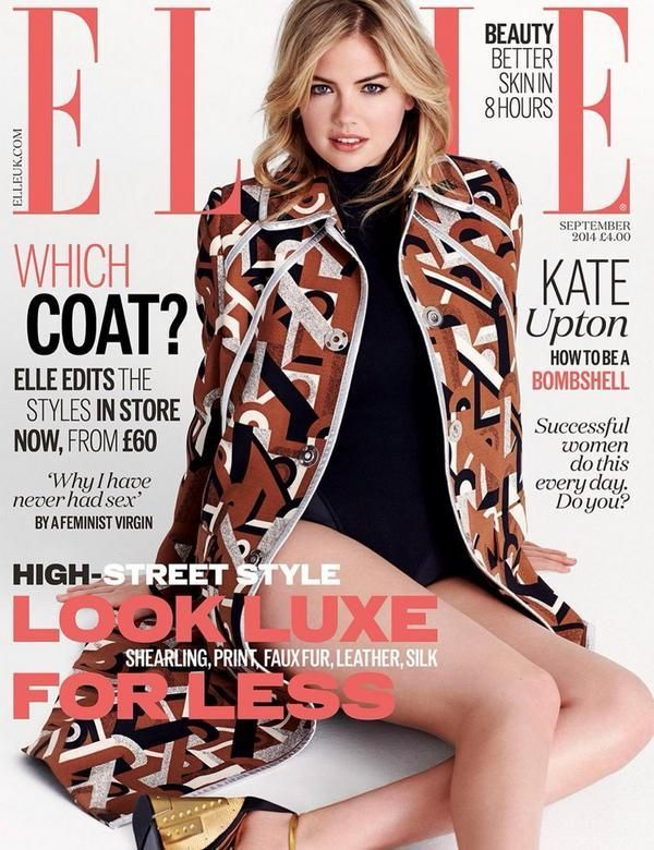 ELLE UK September 2014 Kate Upton