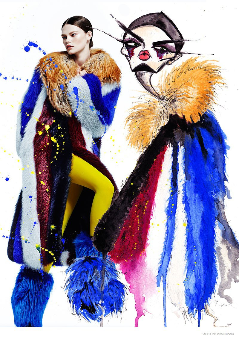Fashion Magazine fur illustration