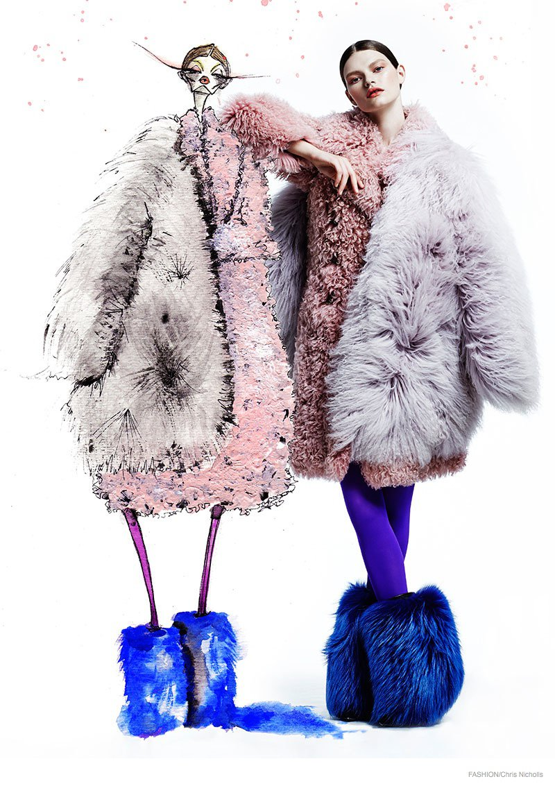 Fashion Magazine Fur editorial