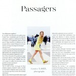 Lay-out inspiratie | Contributors-pagina uit Air France Madame