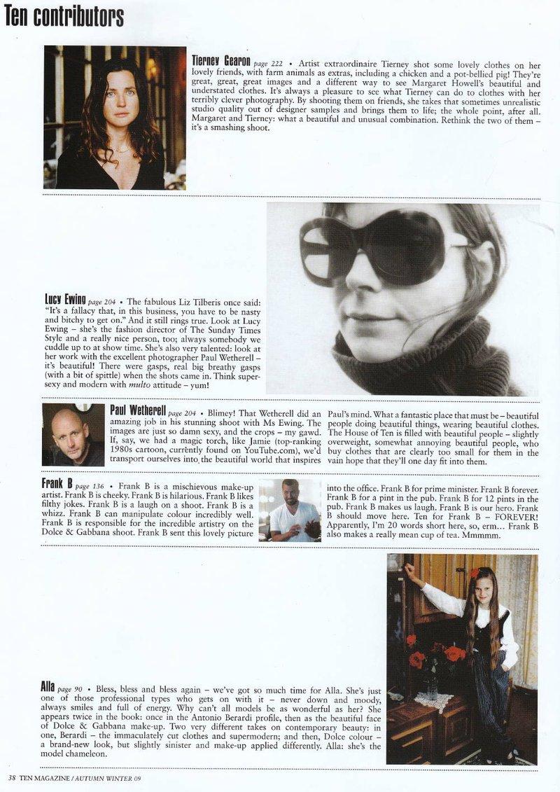 10 magazine contributors page
