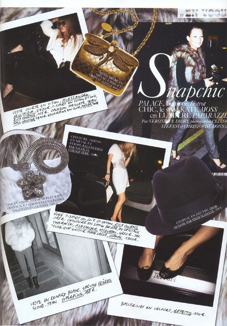 Snapchic Vogue Paris Kate Moss