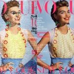 Geborduurde covers van modebladen
