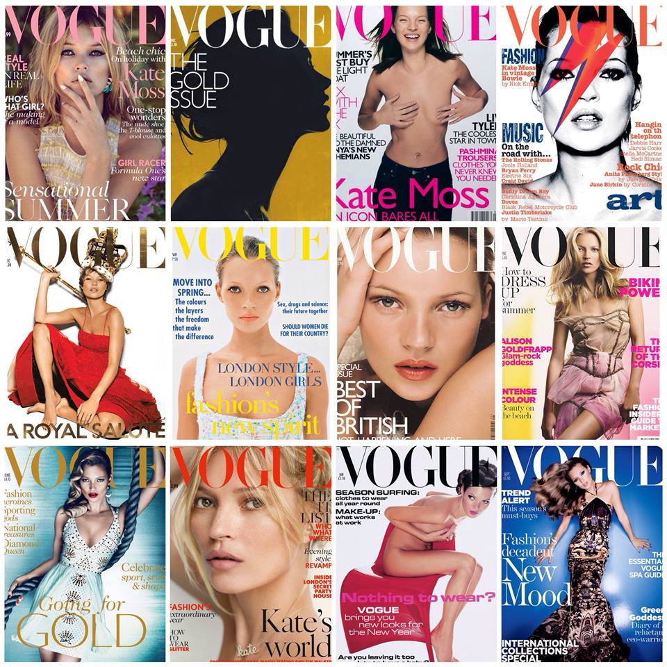 Kate Moss Vogue covers