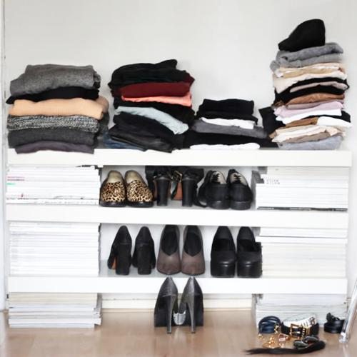 tijdschriften als kledingkast