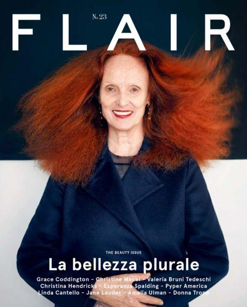 Grace Coddington cover Flair